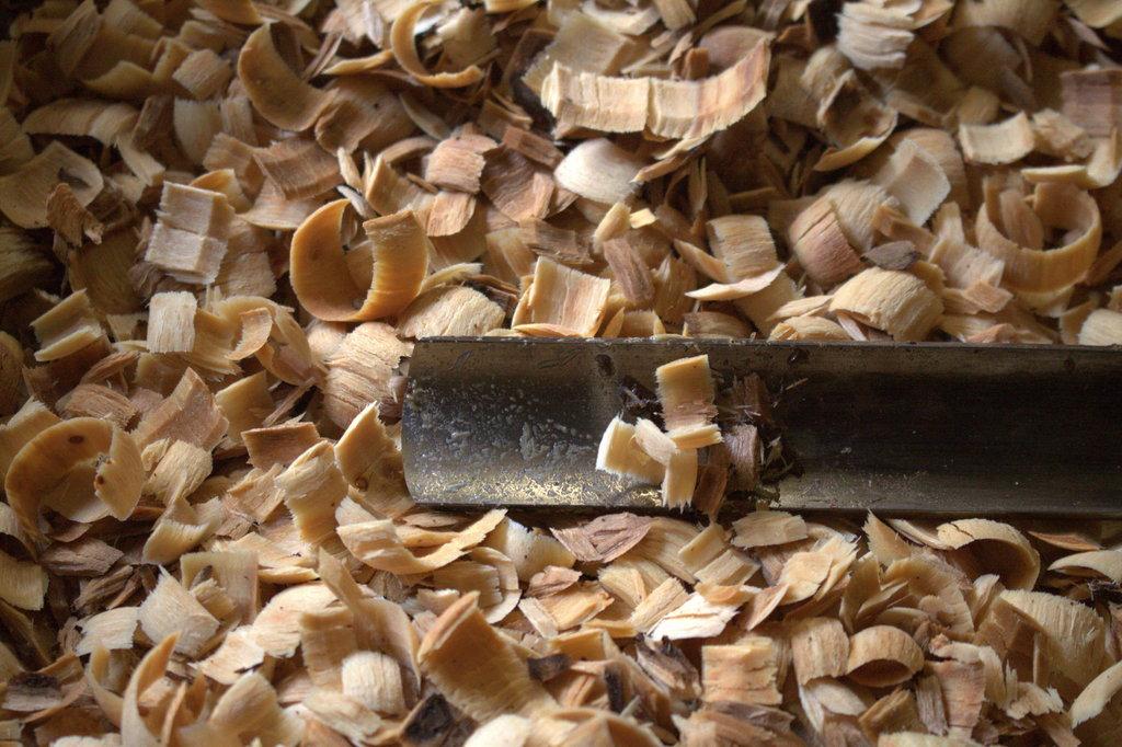 Een houtdraaibeitel in zijn natuurlijke omgeving